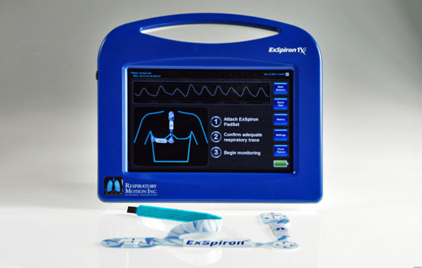 Minute ventilation monitor minute respiratory monitor
